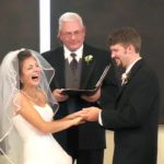 Wife Can't Stop Laughing Because of Her Husband. See what he said in his wedding 10