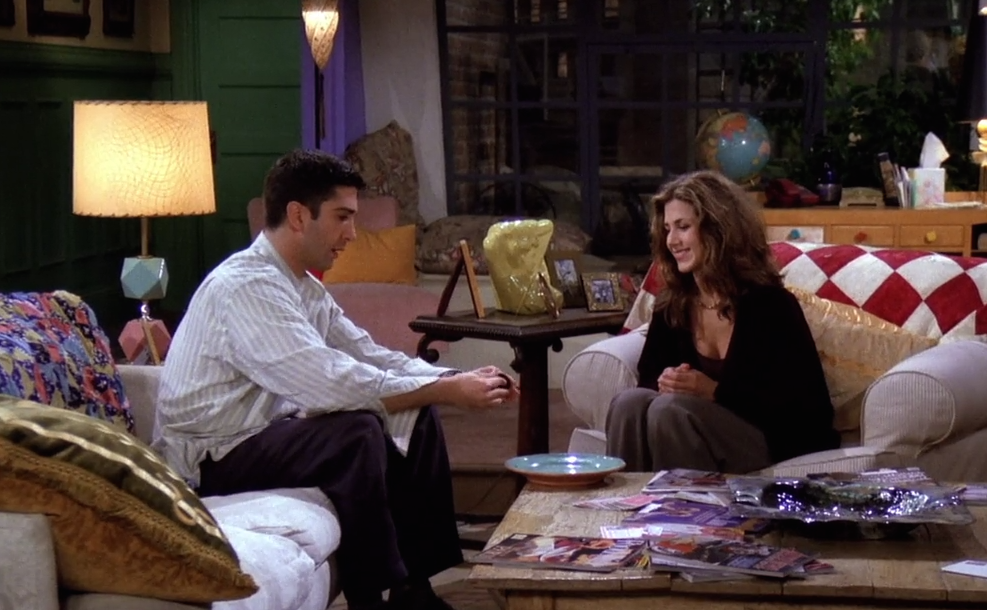 At the end of the first episode of the series, Ross and Rachel share a snack. What was it? 8