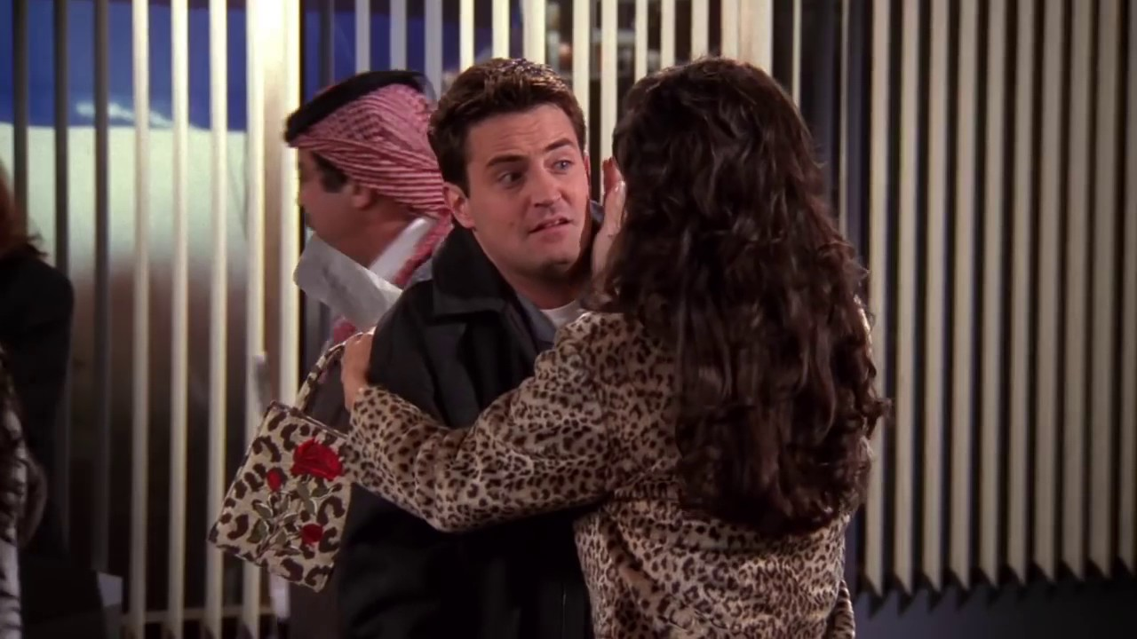 Where does Chandler 'travel to stay away from Janis? 1