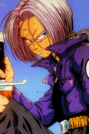 Trunks come back from the future to 5