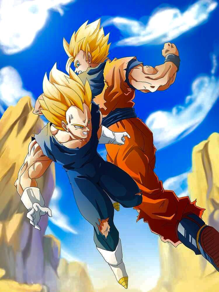 What attack goku used to defeat vegeta when he first came to fight Goku 8