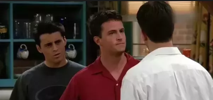 Chandler: Joey's tailor [Pauses for a moment] took ___________ of me. 1