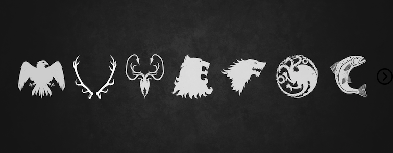 Which house's motto is 'fire and blood'? 8