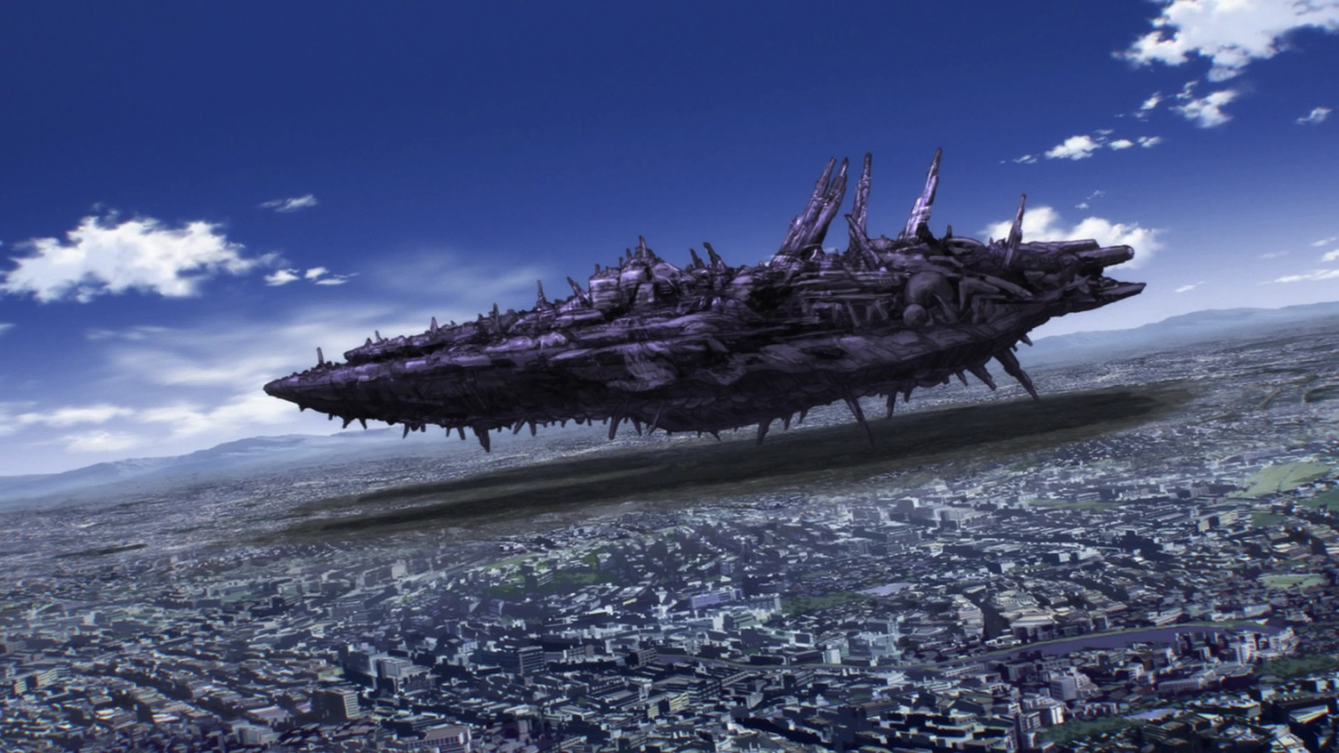 How much of A-city was destroyed by The ship 6