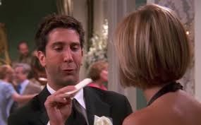 Ross meet her at Monica and Chandler's wedding 6