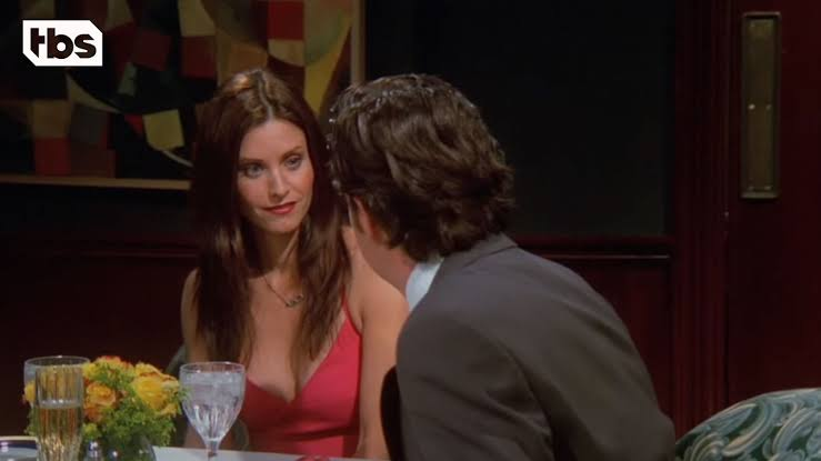 Desperately Monica agrees to go on a date with 5