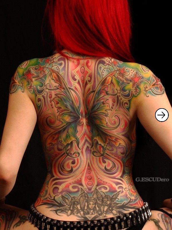 Top 20 back Tattoo design inspiration for girls 9