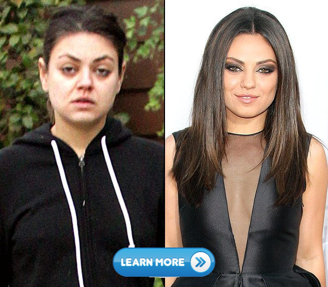10 Celebrities without makeup and diving into aging pool 6