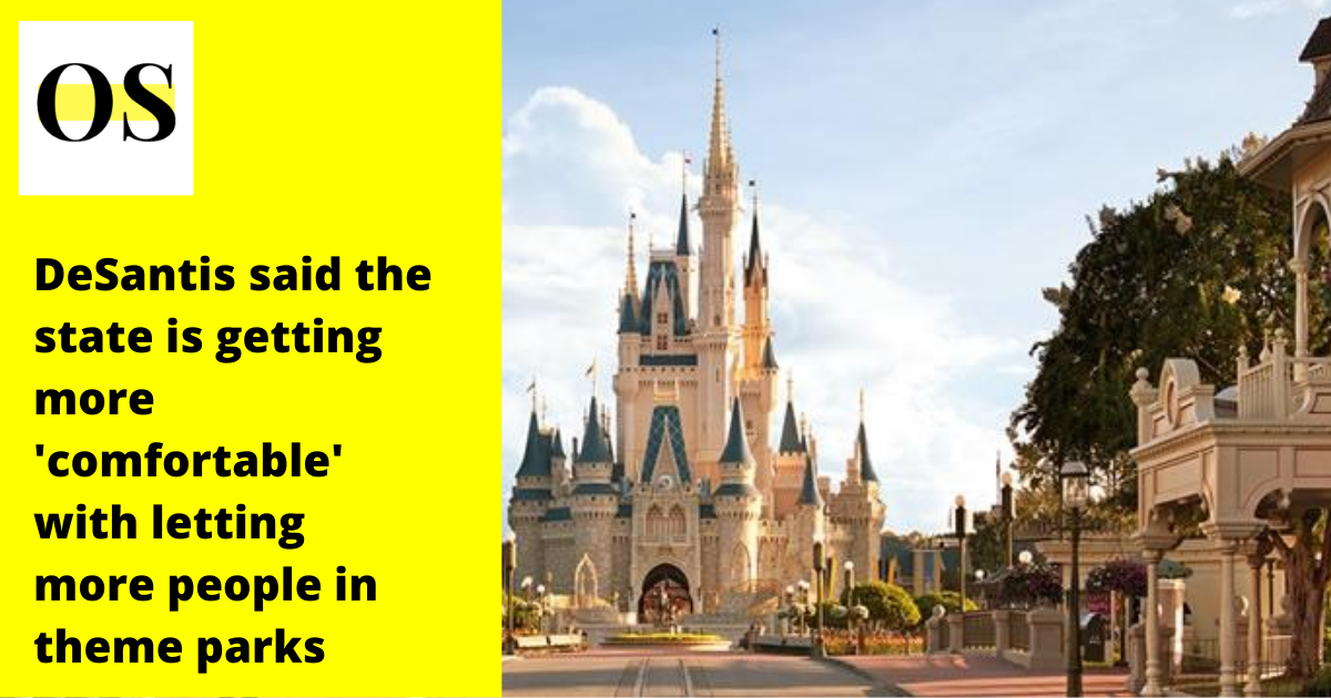 Florida governor supports Disney, Universal, and state amusement parks easing COVID-19 capacity limits 1