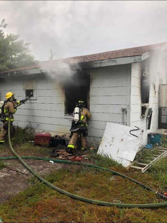 a house fire on Avondale Road