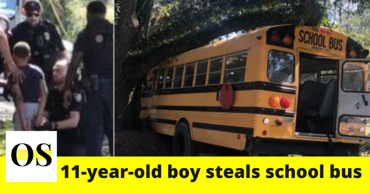 11-year-old Louisiana boy steals school bus and leads police on chase 2