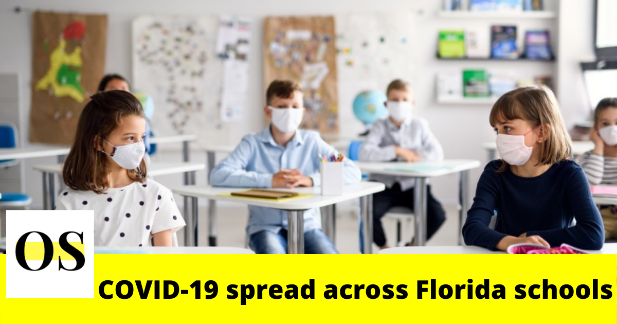 The recent data shows COVID-19 spread across Florida schools 2