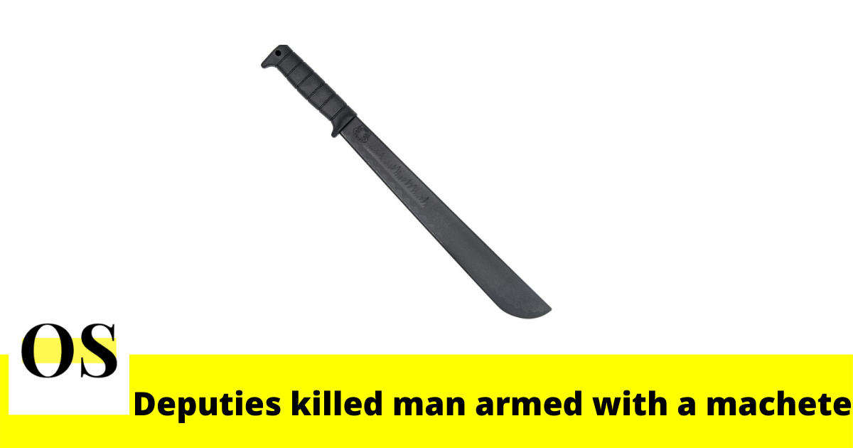 Polk County deputies shot and killed a man armed with a machete late Wednesday 1