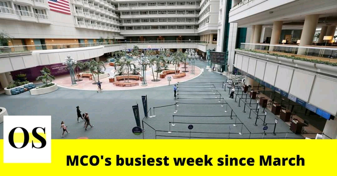 Orlando International Airport (MCO) reports the busiest week since the outbreak of pandemic 3