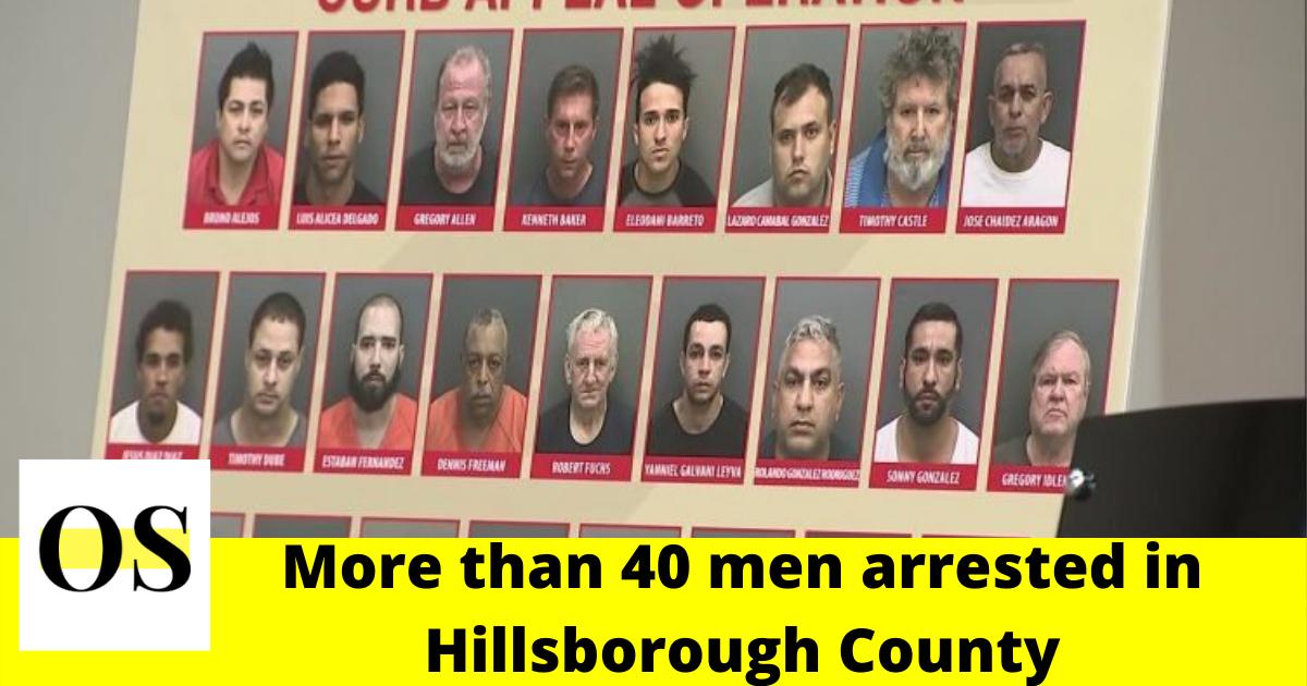 Police arrested more than 40 men