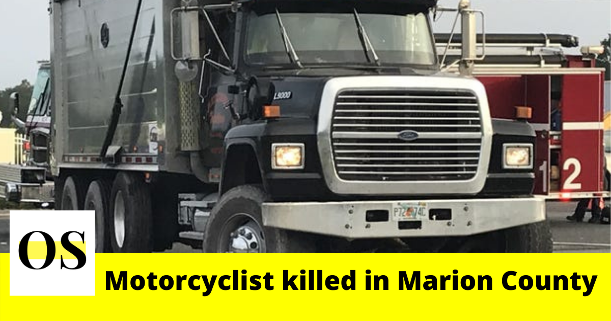 45-year-old motorcyclist killed in crash with dump truck in Marion County 2
