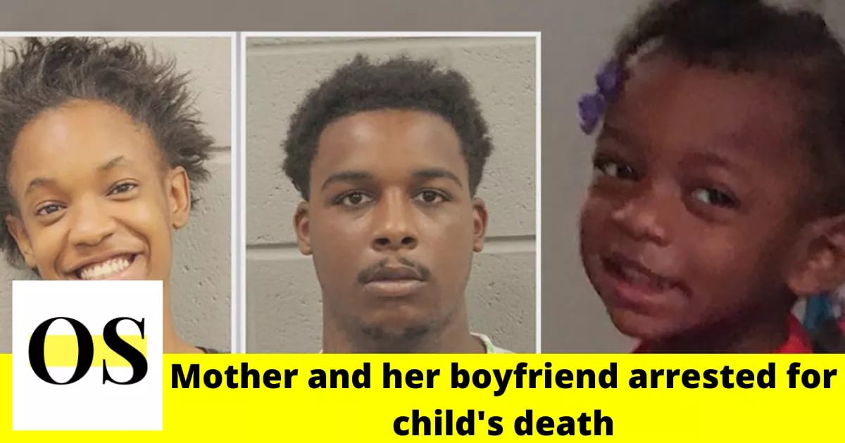 Mother and her boyfriend arrested for death of a 2-year-old girl 1