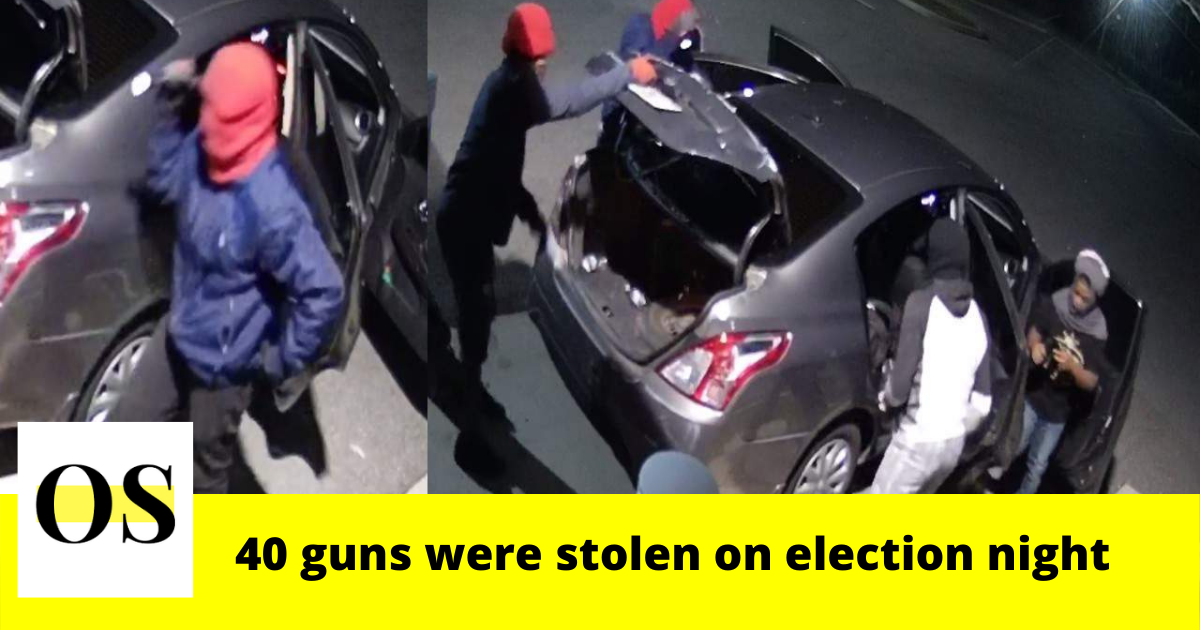 40 guns were stolen on election night from Shoot Straight Apopka 8