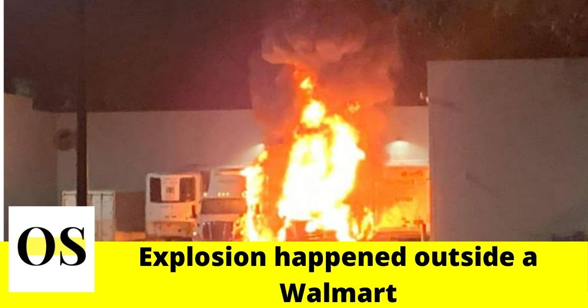 Walmart led tractor-trailers on fire in Brooksville