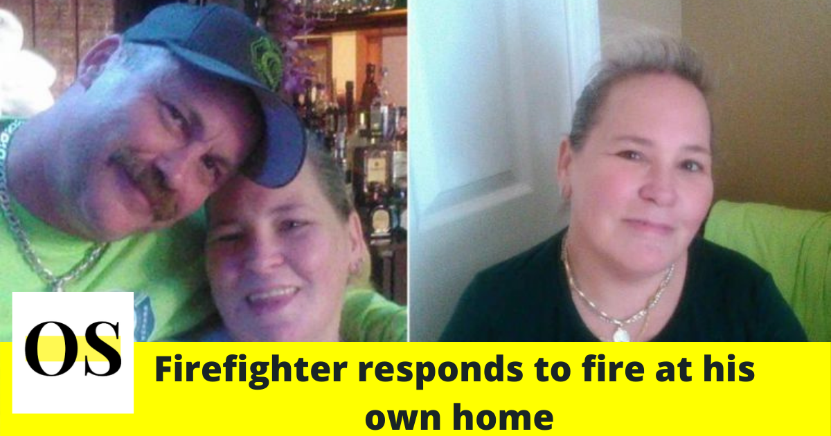 Florida firefighter responds to fire at