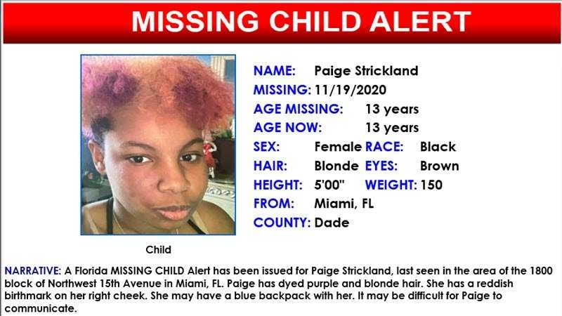 13-year-old teen missing; last seen in Miami 8