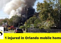 1 injured in a mobile home fire in Orlando 2