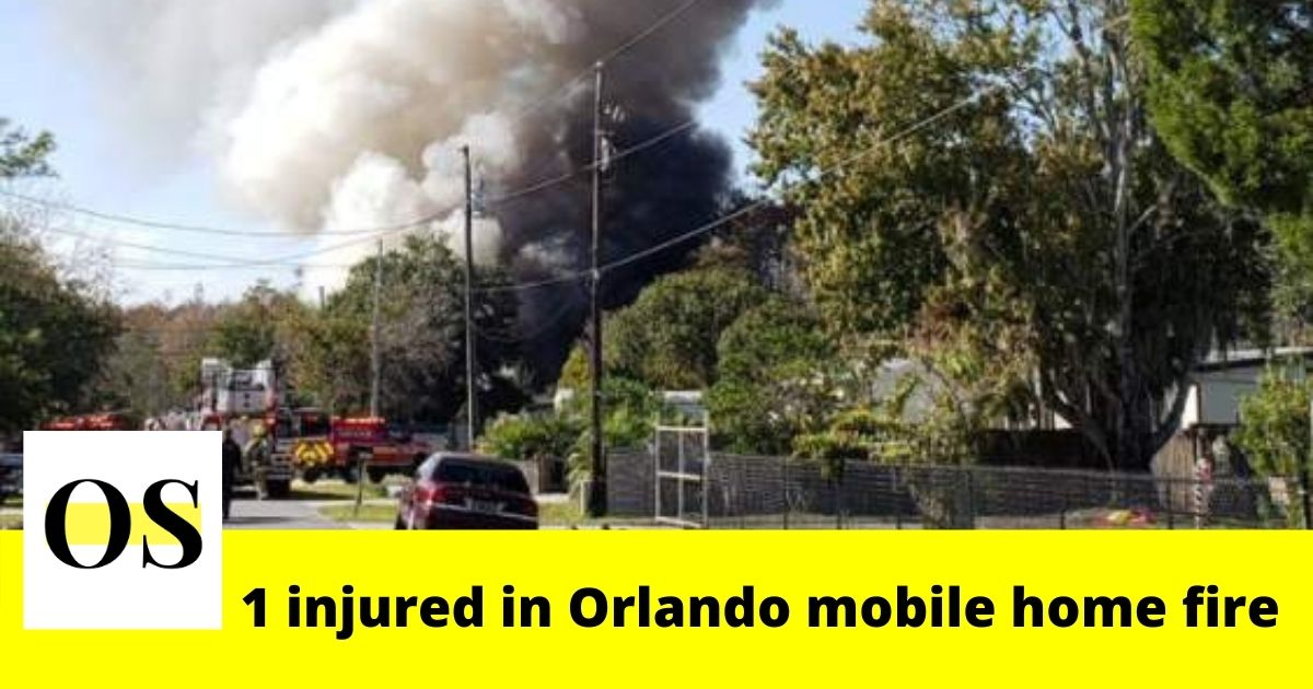 1 injured in a mobile home fire in Orlando 1
