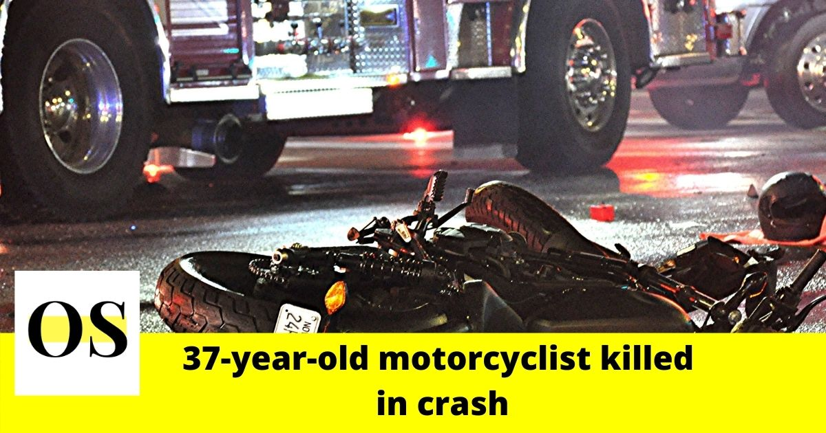 37-year-old motorcyclist killed in crash