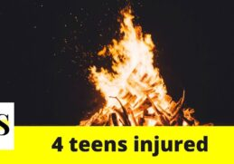 4 teen injured after gasoline exploded in bonfire in Lakeland 5
