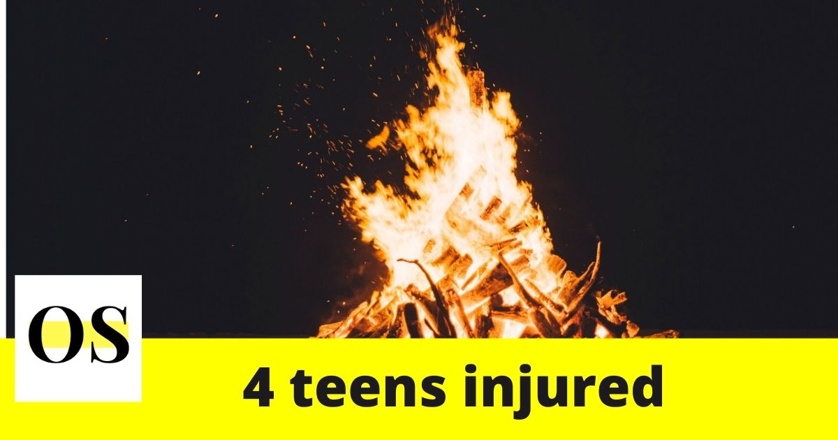 4 teen injured after gasoline exploded in bonfire in Lakeland 1