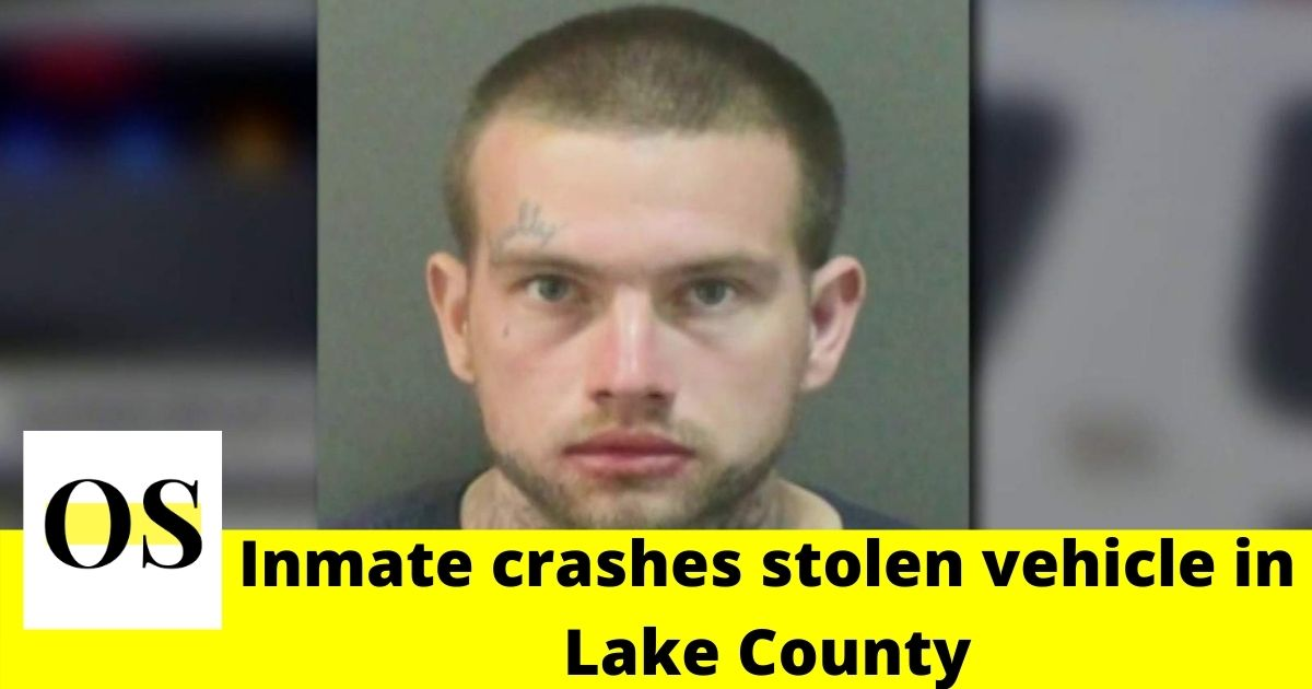 officer and crashes stolen vehicle in Lake County