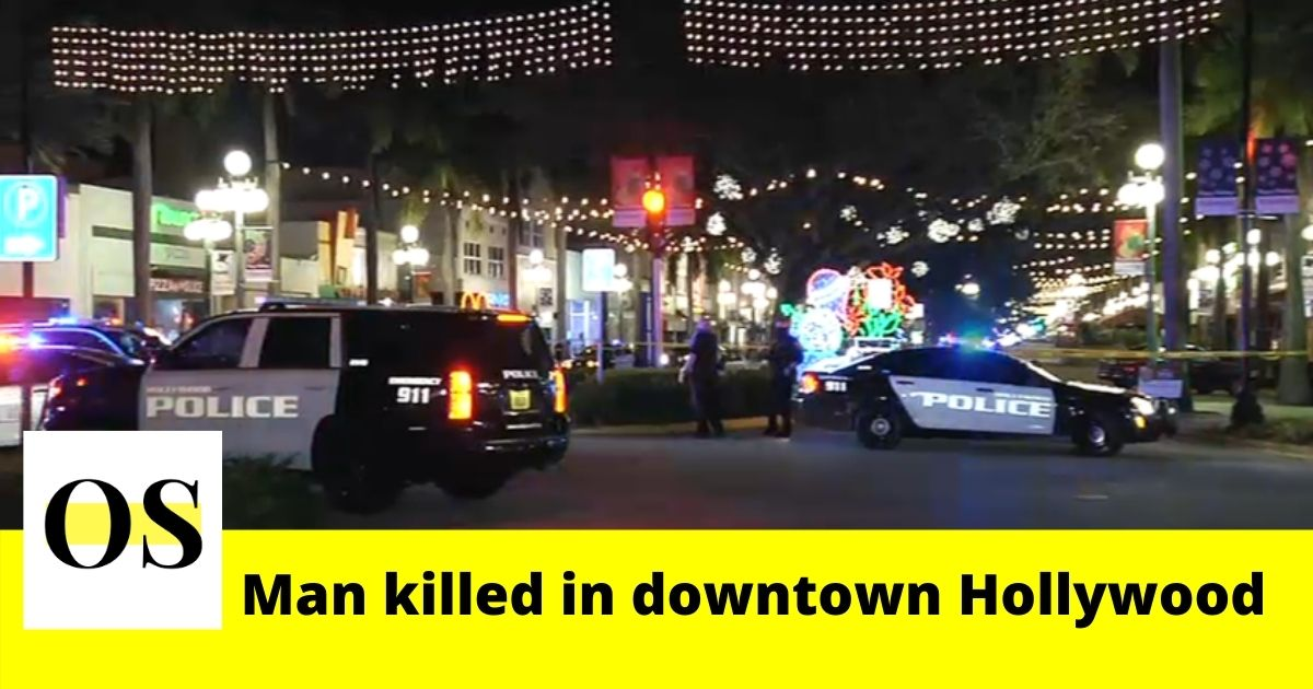 1 killed in a shooting in downtown Hollywood