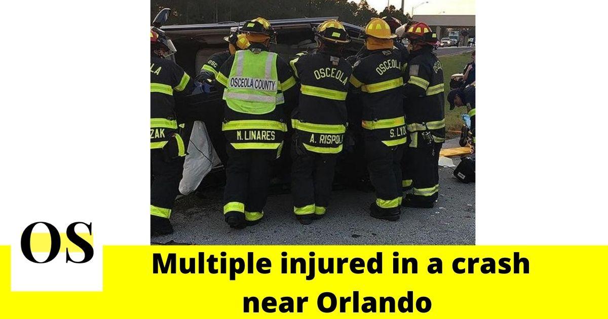 8 people injured in two-car crash near Orlando 2