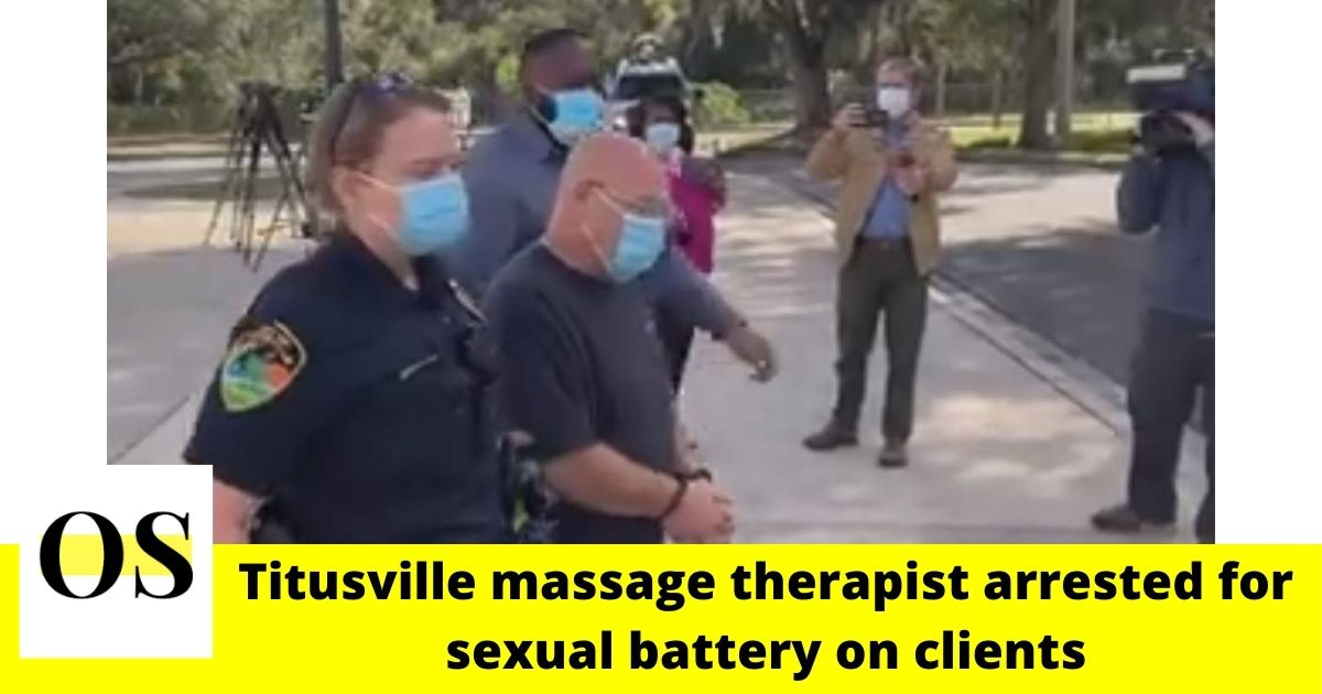 57-year-old massage therapist accused of sexual battery on clients on Titusville 1