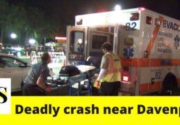 1 killed, 1 critically injured in a crash near Davenport 6