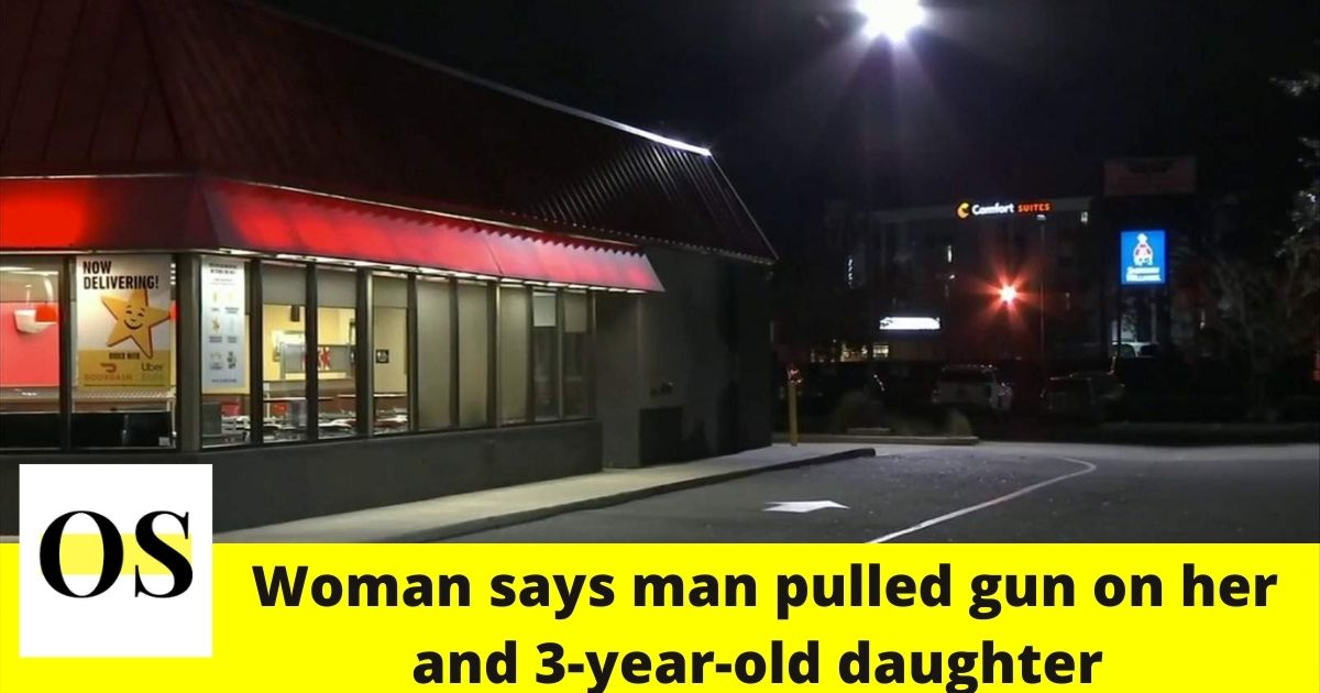 on her and 3-year-old Jacksonville drive-thru
