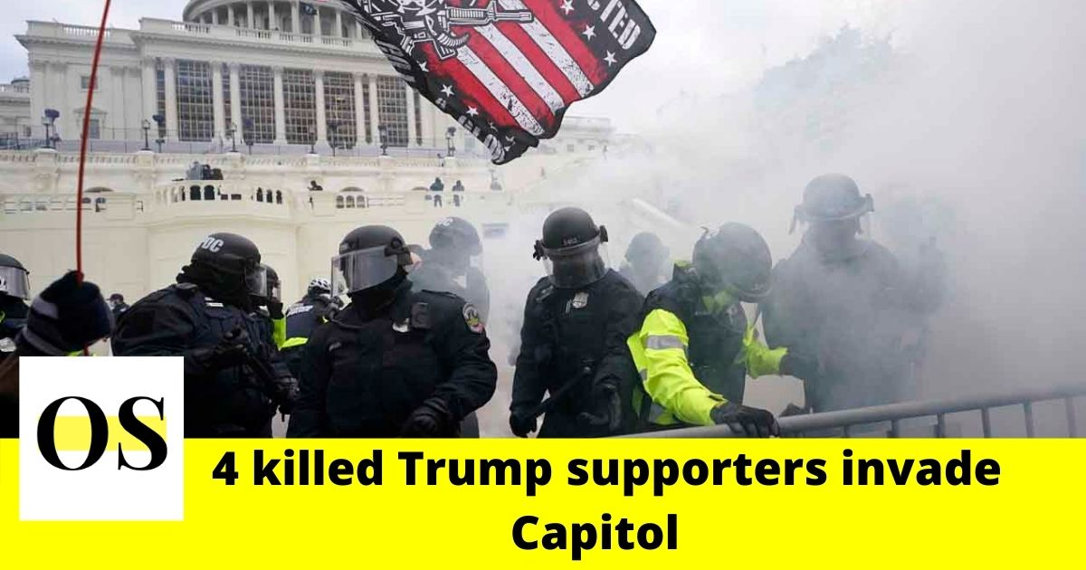 "1 woman shot to death by police, 3 died in ""medical emergencies"" as Trump supporters invade Capitol 3"