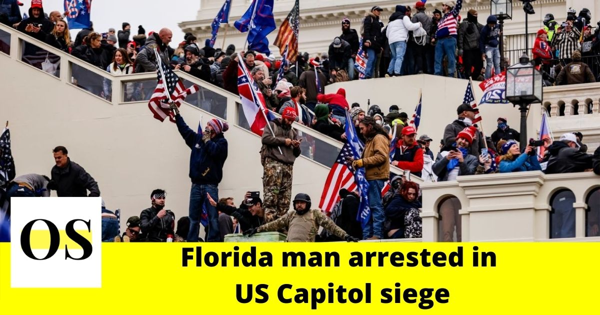 Florida man arrested in US Capitol siege