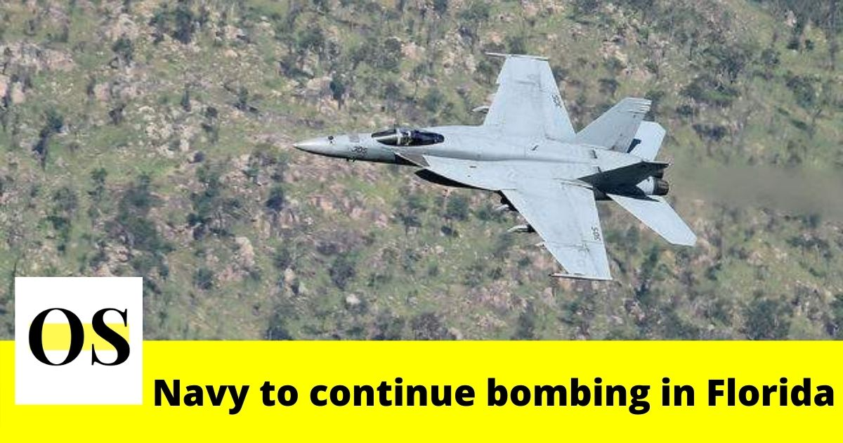 Navy to continue bombing in Florida 1