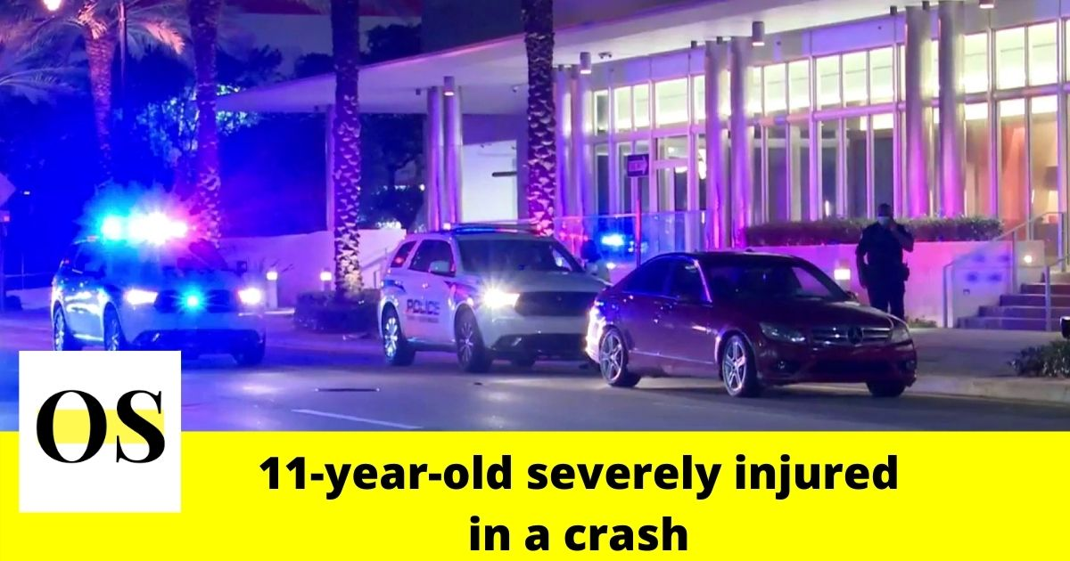 11-year-old boy suffered severe head trauma in a crash in Sunny Isles Beach 1