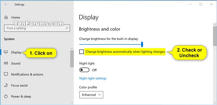 Tricks to adjust brightness on windows 10. 5