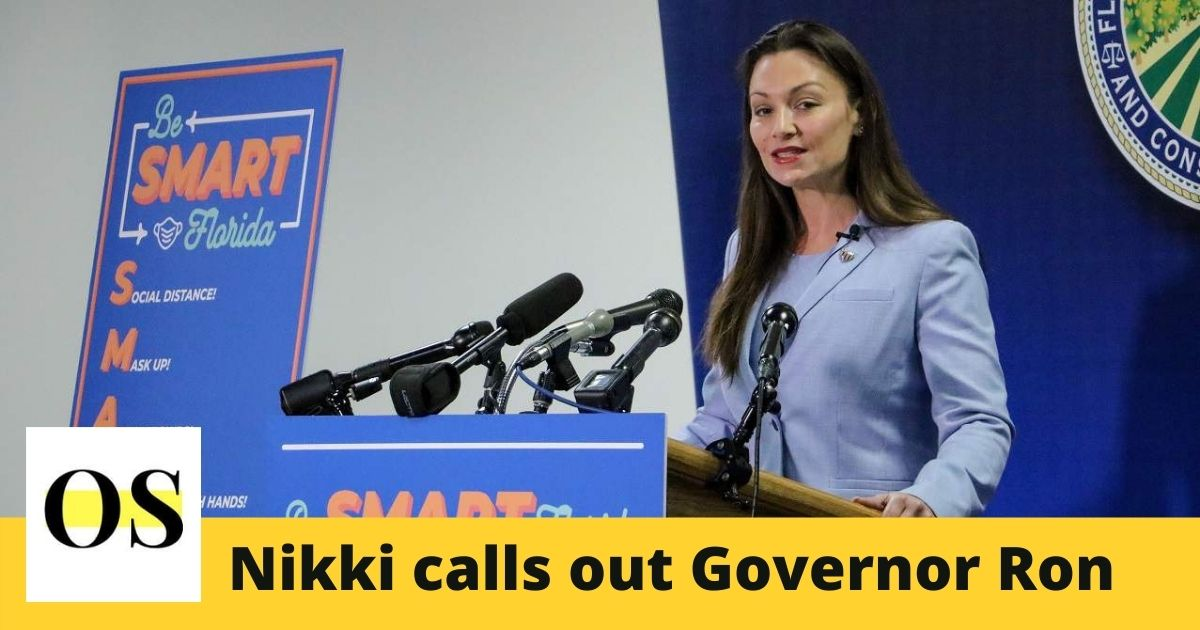 Nikki Fried calls out Governor Ron Desantis and challenges him 1