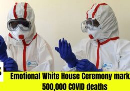 Emotional White House Ceremony marking 500,000 COVID deaths 9