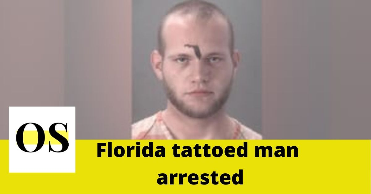 A young man arrested with bold Florida tattooed on his forehead 1