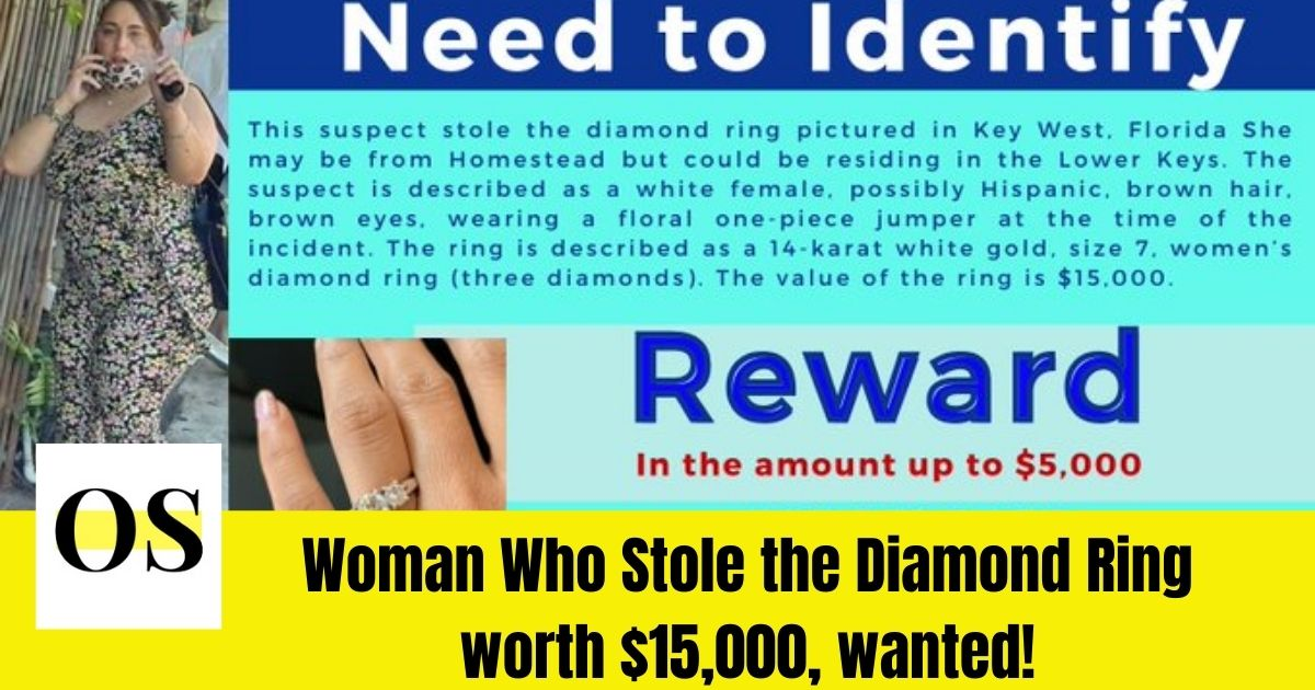 Woman Wanted that Stole the Diamond Ring of Cost $15,000 7