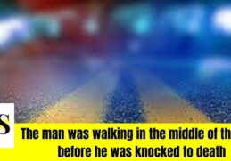 knocked down by a car