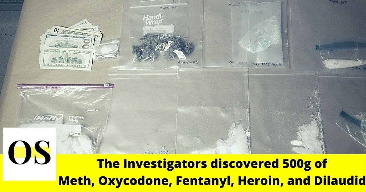 'Meth' seized during a drug raid