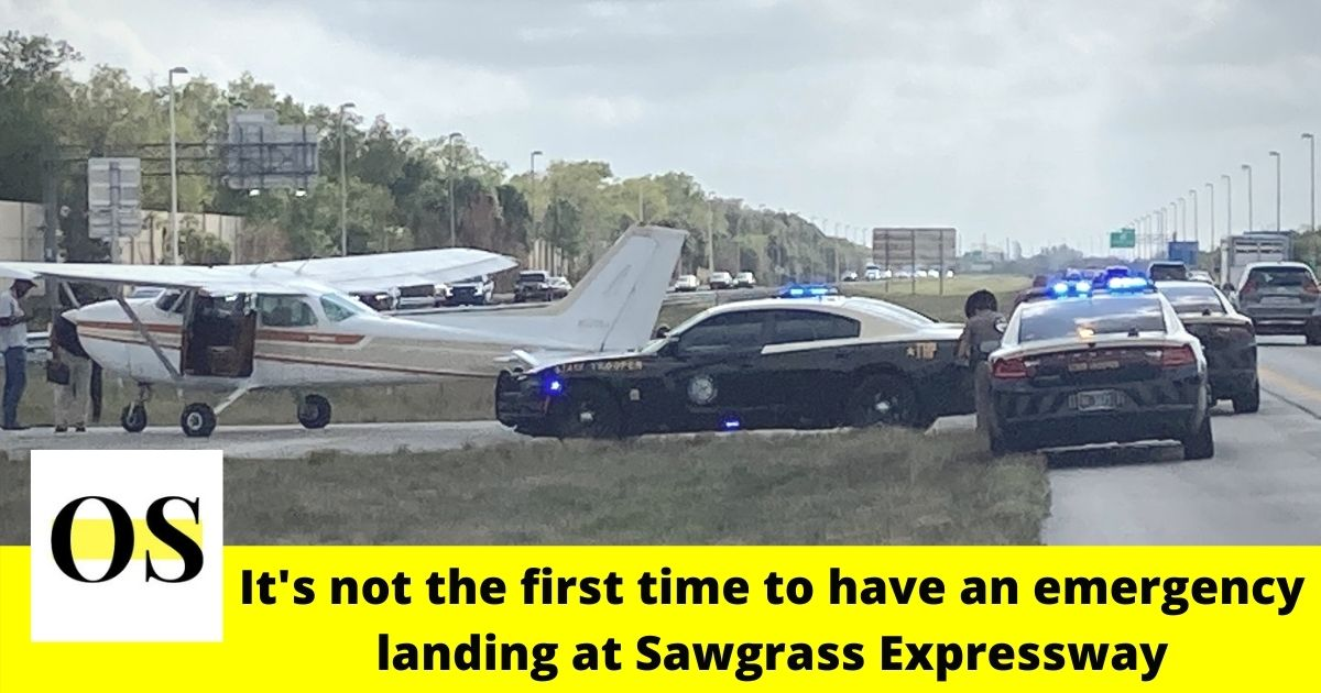 Cessna 172, a single engine plane makes emergency landing