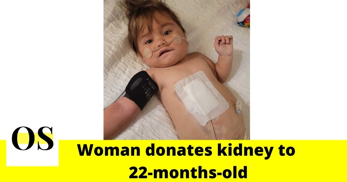 Woman donates kidney to 22-months-old
