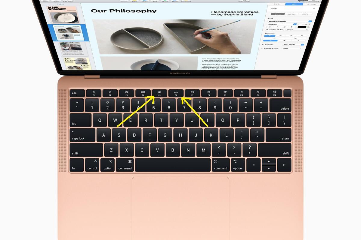 Tricks to Adjust Keyboard Brightness on MacBook Air. 2